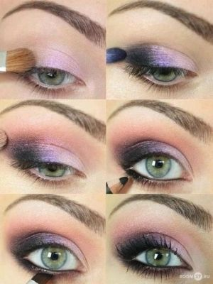 Purple Smoky Eyes