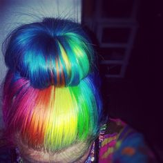 Rainbow Bun Hairstyle
