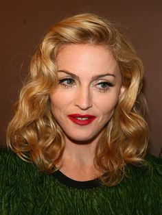 Retro Inspired Madonna Curly Hairstyle
