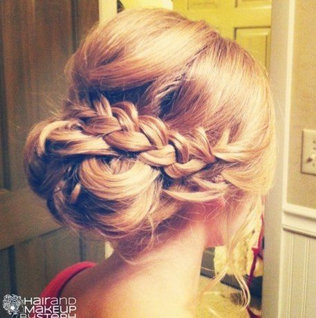 Braided Updo For Medium Length Hair