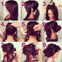 Romantic Loose Updo Hairstyle Tutorial