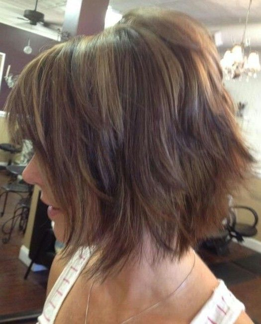 Shaggy Bob Haircut for Ombre Hair