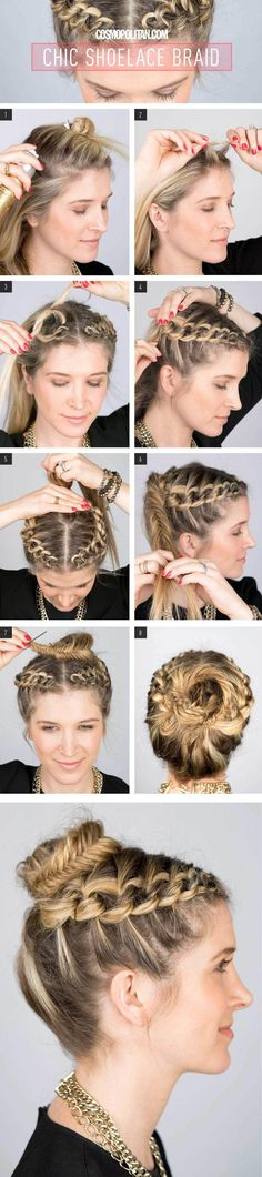 Shoelace Braided Updo Hairstyle Tutorial
