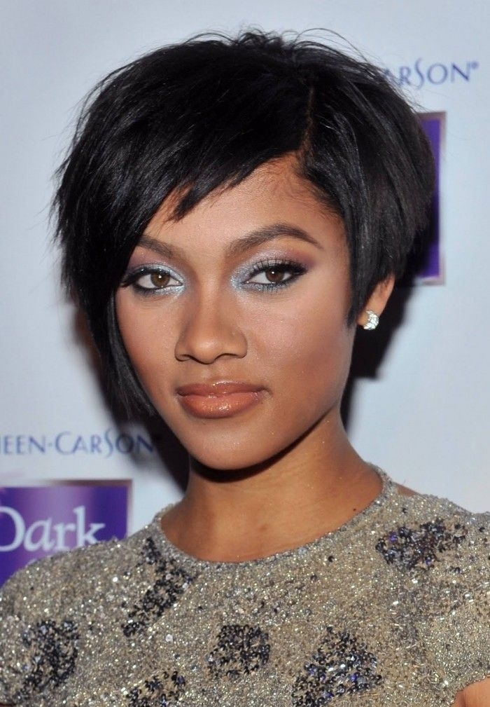 Short Black Haircuts Women 11