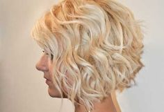 Short Blond Curly Bob Hairstyle