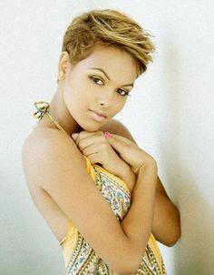 Short Blond Haircut for African American Women