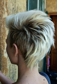 Short Blond Punk Hairstyle