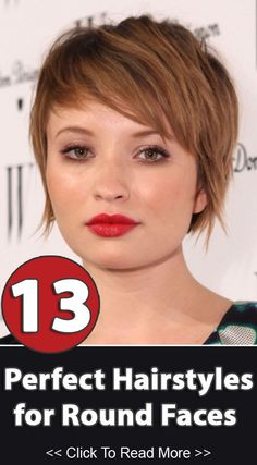 Short Choppy Hairstyle for Round Face