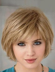 Short Hairstyle With Bangs for Blond Hair