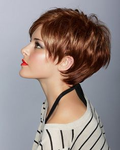 Short Layered Hairstyle for Long Faces