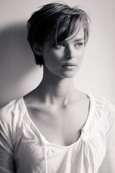 Short Pixie Hairstyle With Bangs
