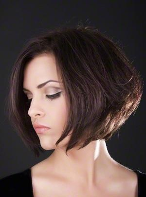 Short Stacked Bob Haircut for Round Faces