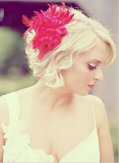 Short Wavy Bob for Wedding Hairstyles