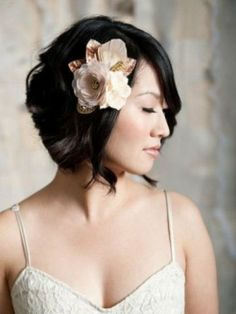 Short Wedding Hairstyle for Black Hair