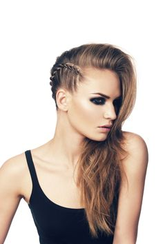 Side Braided Punk Hairstyle