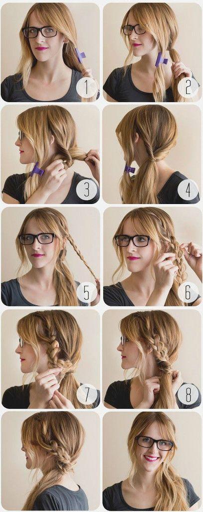Hair tutorials easy and cute hair ideas for the week pretty designs side ponytail solutioingenieria Choice Image