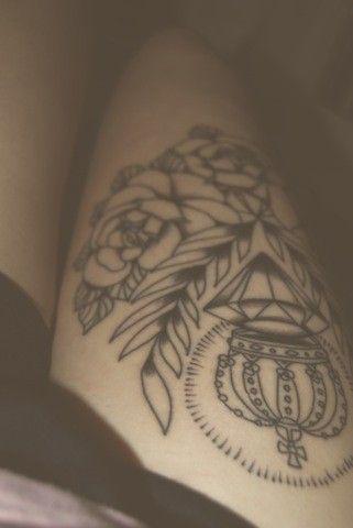 Side Thigh Tattoo