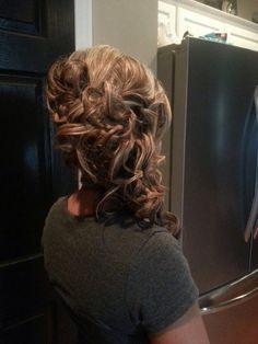 Side Updo for Medium Length Hair