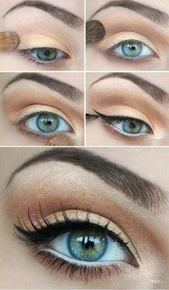 Simple Eye Makeup Tutorial for Green Eyes