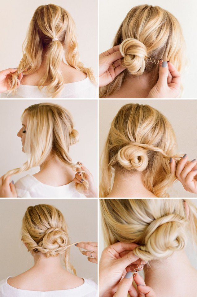 11 Simple Yet Stylish Hairstyle Tutorials for Work - Pretty Designs
