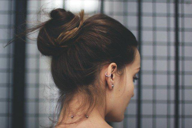 Simple High Bun Hairstyle