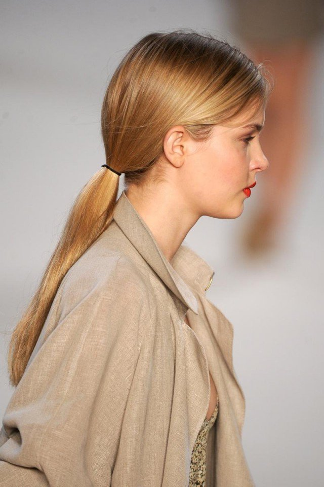 Simple Low Ponytail Hairstyle