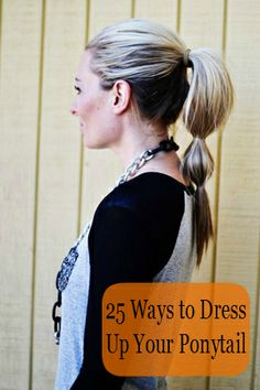 Simple Ponytail Hairstyle for School Girls