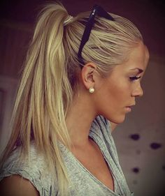 Simple Ponytail For Long Blonde Hairstyles