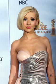 Sleek Bob Cut - Christina Aguilera Hairstyles