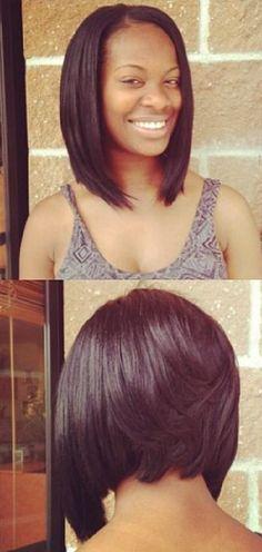Sleek Bob Hairstyle for Black Women