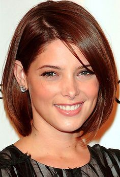 Sleek Bob Hairstyle for Heart Shaped Faces Pinterest