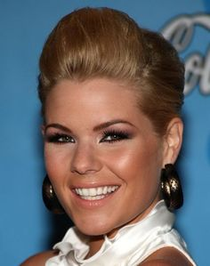 Sleek Updo for Kimberly Caldwell Hairstyles