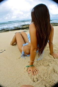 Brunette beach pics 86