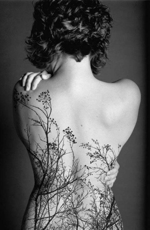 Stunning Tattoo Idea with Trees