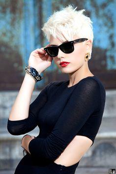 Super Short Blond Hairstyle