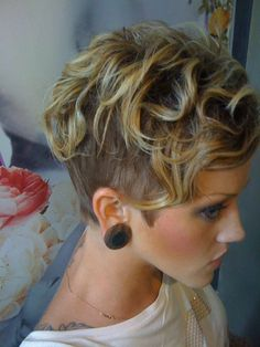 Super Short Curly Hairstyle