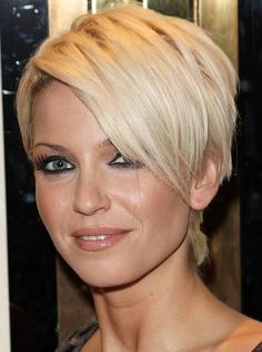 Super Short Hairstyle With Long Side Bangs