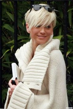 Super Short Pale Blond Hairstyle
