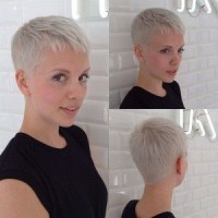 Super Short Platinum Blond Hairstyle
