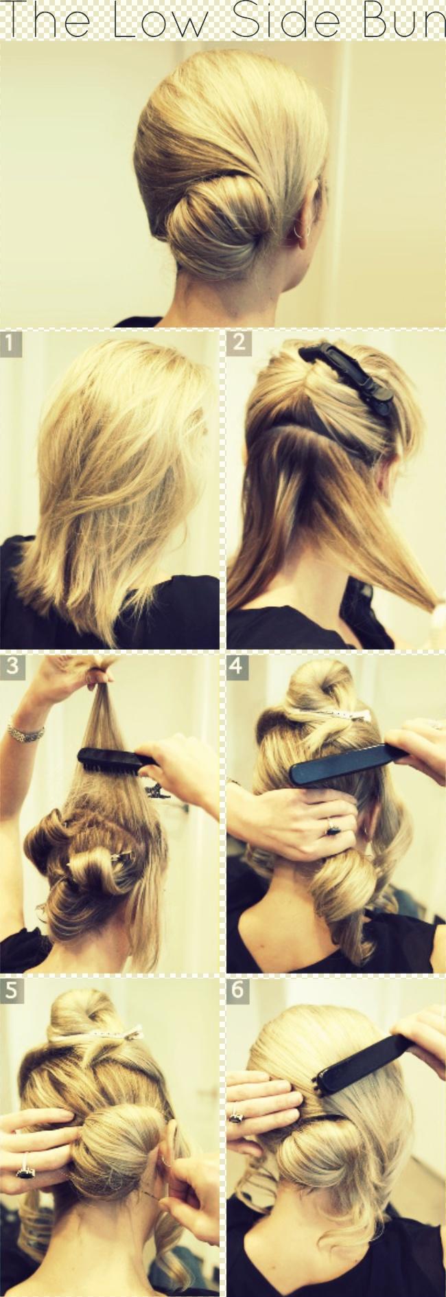 Fabulous Graceful And Beautiful Low Side Bun Hairstyle Tutorials And Hair Short Hairstyles Gunalazisus