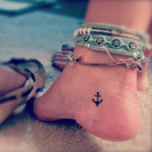 Tiny Anchor Tattoo