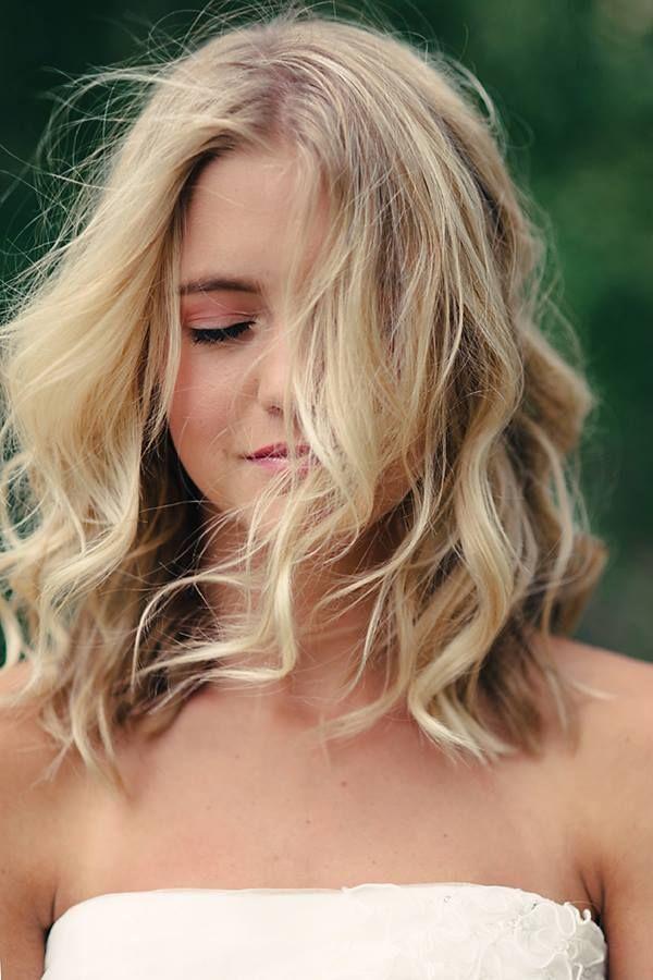 Tousled Waves for Shoulder-length Hair
