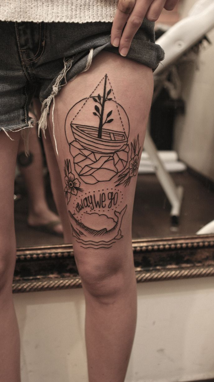 20 Thigh Tattoo Designs for Every Woman - Pretty Designs