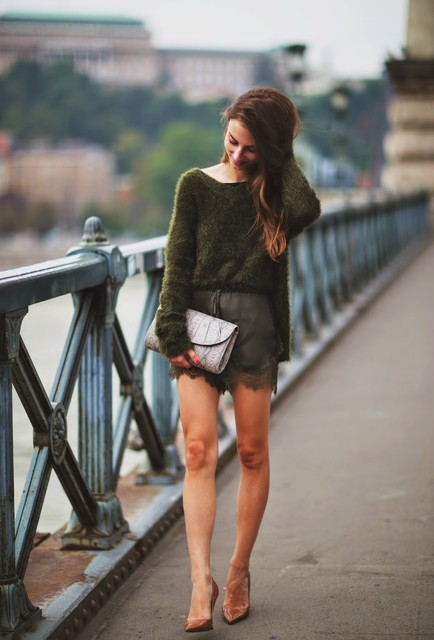 Trendy Fall Outfit Idea with Olivia Green Sweater
