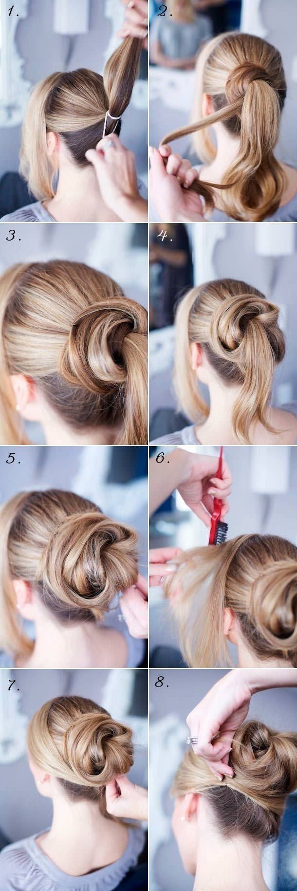 Trendy Low Bun Hairstyle