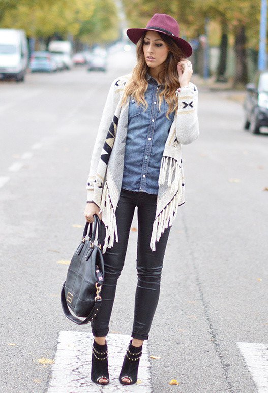 Trendy Outfit Idea with Denim Shirt