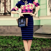 Trendy Outfit Idea with Midi Pencil Skirt