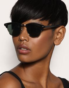 Trendy Short Straight Haircut for African American Women