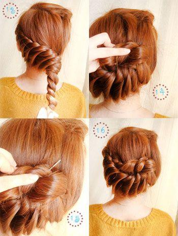 19 fabulous braided updo hairstyles with tutorials - Peinados faciles y rapidos paso a paso ...