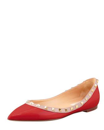 Valentino Studded Ballerina Flat